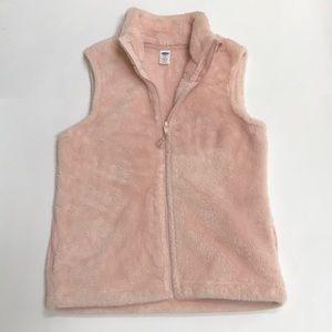 Girls Pink Fleece Vest